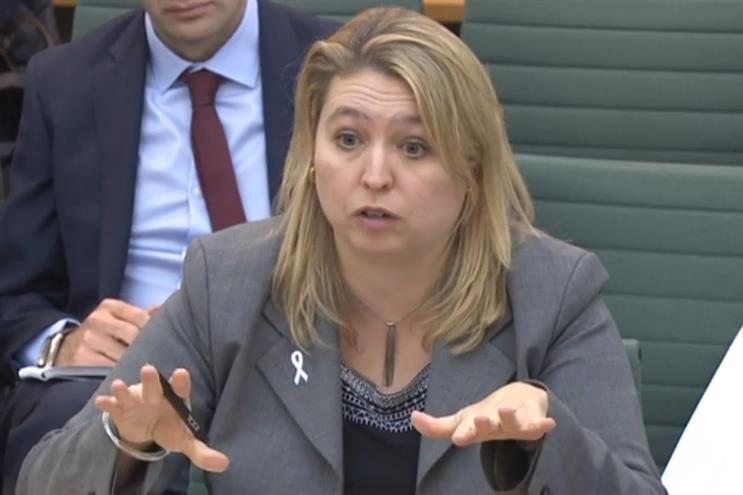 Karen Bradley: culture secretary appeared before MPs today (Credit: House of Commons)