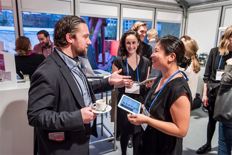 Conference-goers get to know each other at C2 Montréal 2015
