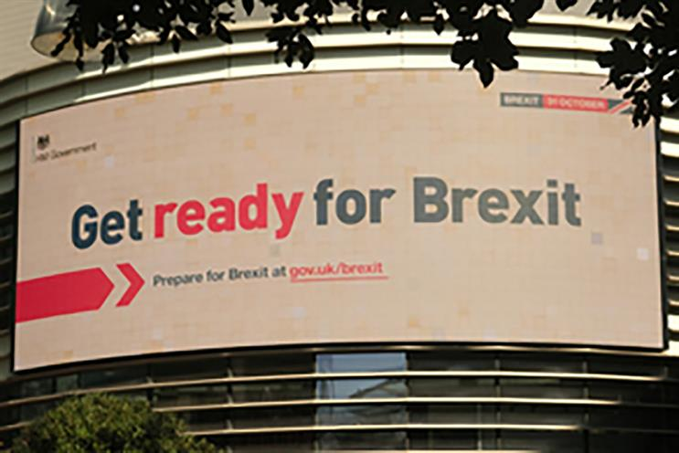 Brexit: outdoor ads launched on Sunday