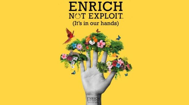 Body Shop's 'Enrich not exploit' campaign