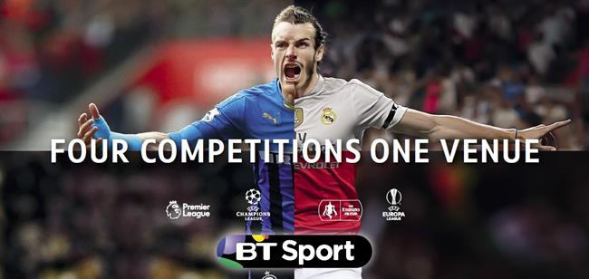 BT Sport: new deal means it can continue to broadcast four major football competitions