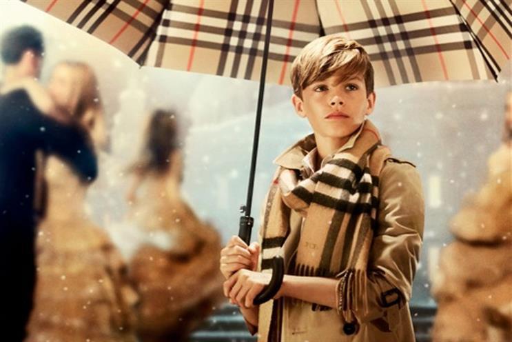 Romeo Beckham: stars in Burberry ad