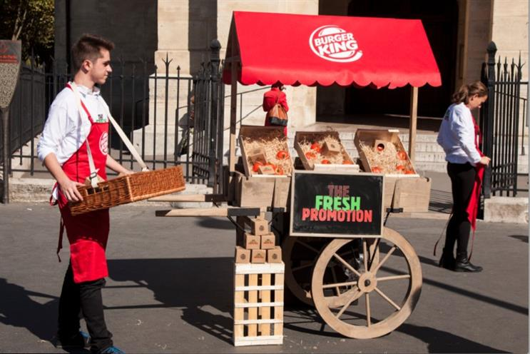 Burger King: trading tomatoes for Whoppers in France