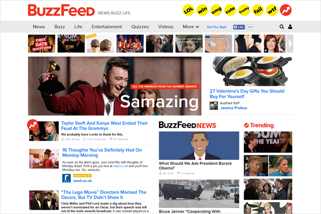 Buzzfeed: advertising strategy has long favoured native over banners and popups