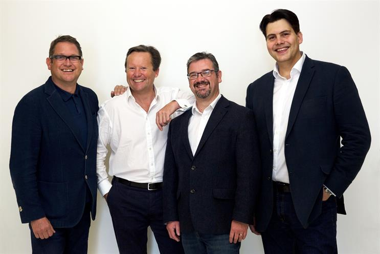 L-R: Whitehead; Nick Dixon, director, Blueberrywave@JWT; Mattey; and Marius Bartsch, head of JWT One-to-One