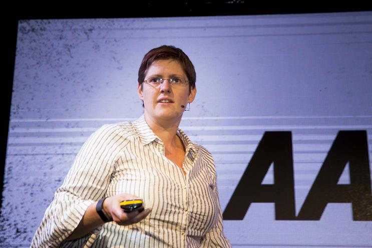 Cheryl Calverley: the AA marketing chief spoke about emotional advertising