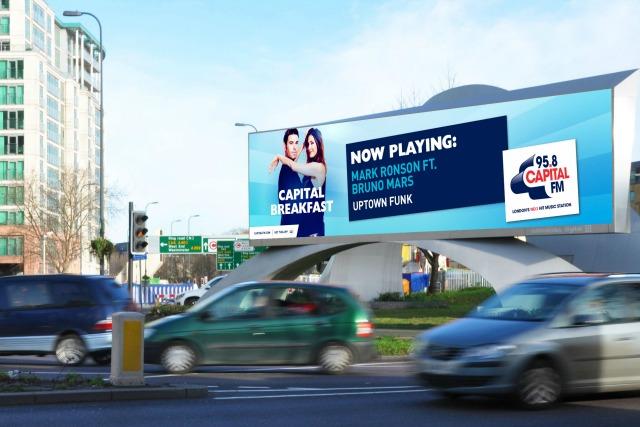 Capital Radio: relays tracks to Outdoor Plus screens via CrowdScreen