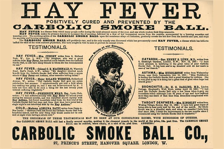 No 70: The Carbolic Smoke Ball ad