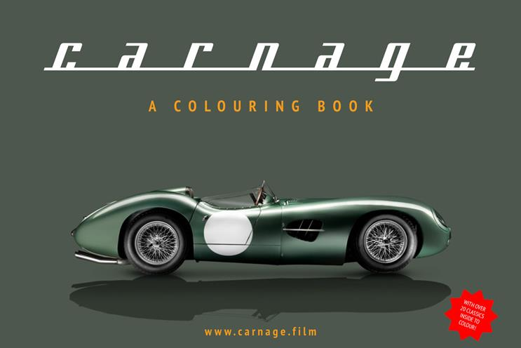 Carnage: celebrated launch by creating a car-themed colouring book