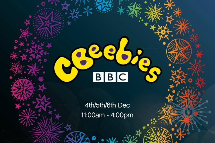 Cbeebies' Christmas experience will feature stars from its programs
