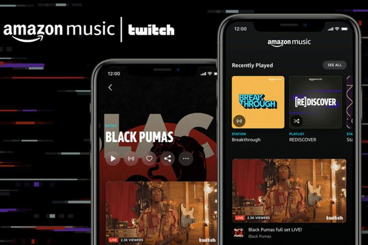 Amazon Music: app users will receive notifications when artists they follow go live on Twitch