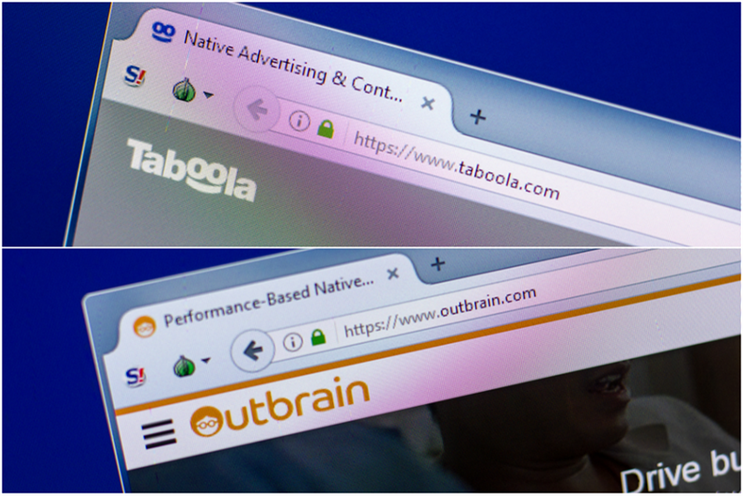 Taboola and Outbrain: originally announced agreement to merge in October 2019