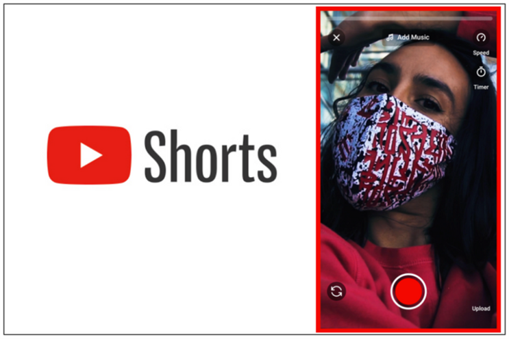 YouTube Shorts: accessible via the YouTube app