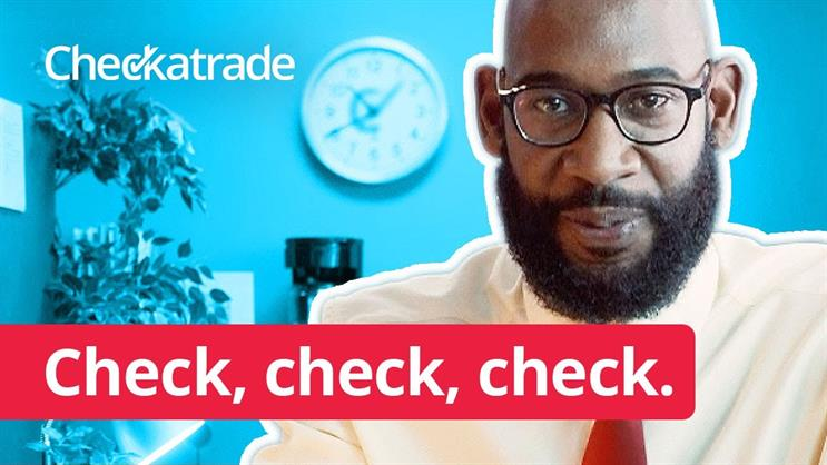 Checkatrade's 'Check check, check' campaign from 2019, created by Creature