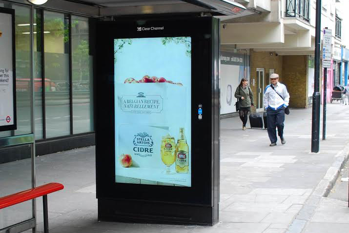Cidre: Liveposter's tech was used to launch a campaign for the Stella Artois brand last year