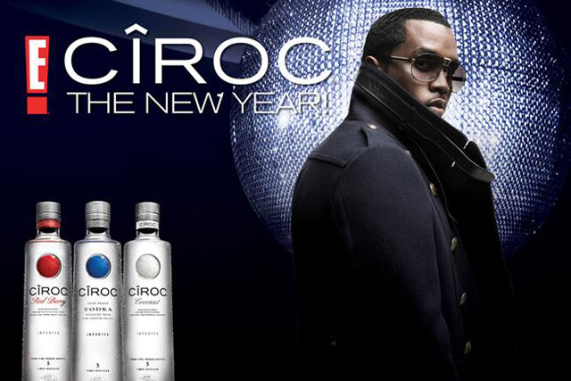 Cîroc: rapper Sean Combs is an ambassador for the the vodka brand in the US