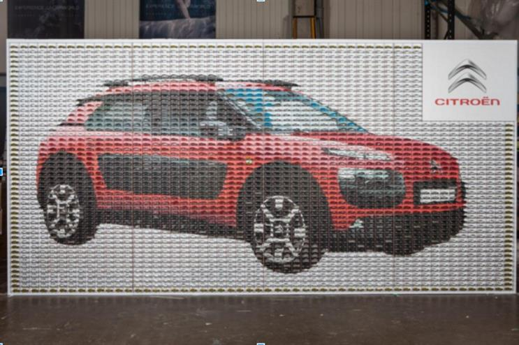 Event TV: Citroën to unveil mosaic made of 3,000 model cars