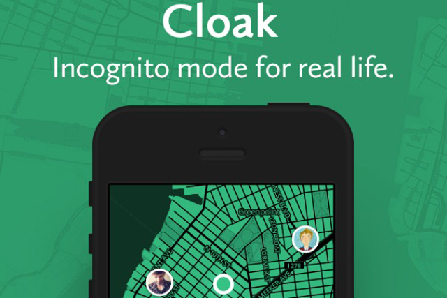 Cloak: enables people to avoid their contacts