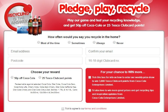 Coca-Cola and Tesco team up in digital recycling campaign