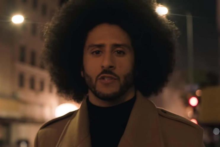 American football star: Colin Kaepernick fronts Nike's campaign