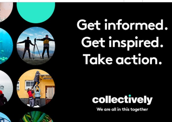 Collectivity: the site aims to inspire sustainable living and cut through the 'negativity' and 'cynicism' of the media
