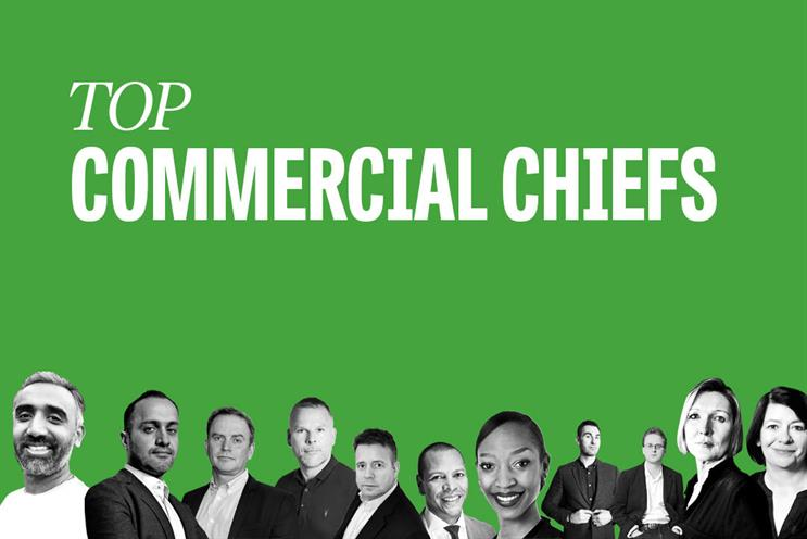 Top commercial chiefs: Patel, Nasr, Williams, Salmon, Williams, Carter, Kingori, Bush, Baughan, Stacey and Jacob