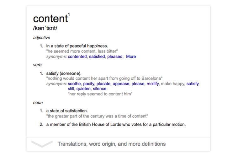 Content: Marketers need to find their definition
