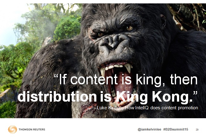 """""""If content is king, then distribution is King Kong."""" – Kelvin Lee. Image courtesy of Kelvin Lee."""