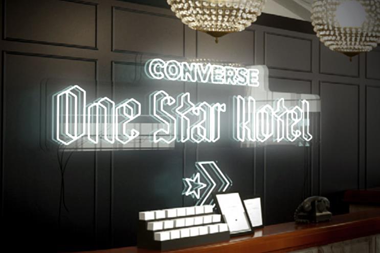 Converse creates 'One star hotel'