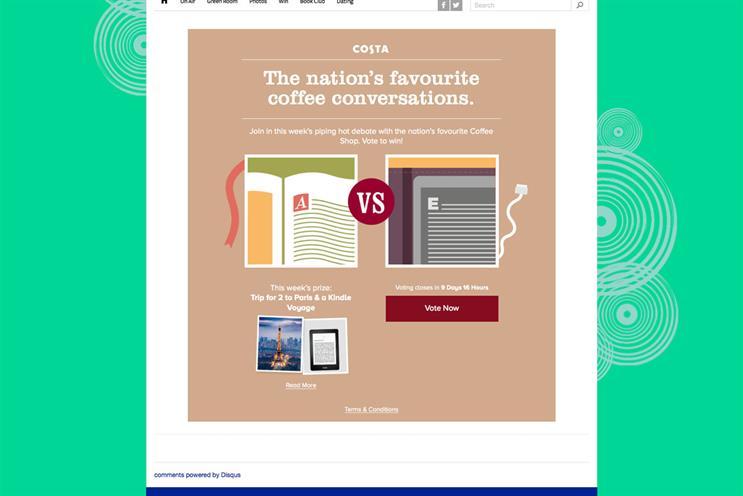 Costa Coffee: it is sponsoring the Magic Radio breakfast show