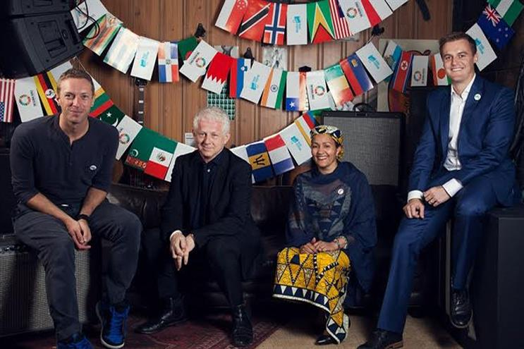 Global Goals: backed by the Coldplay lead singer Chris Martin, Richard Curtis, the United Nations' Amina Mohammed and humanitarian Hugh Evans