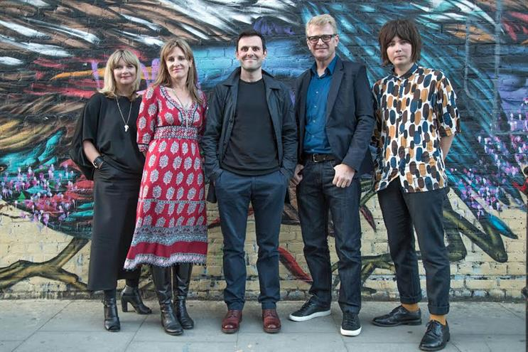 D&AD: Nicky Bullard, Caitlin Ryan, Andy Sandoz, Bruce Duckworth, and Hamish Gardner (l-r)