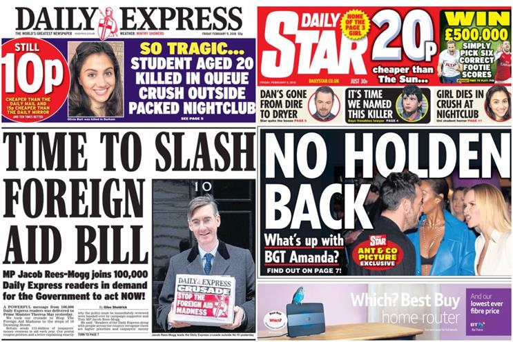 Trinity Mirror buys Daily Express and Daily Star titles