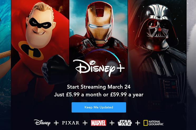 Consumers can register their interest ahead of Disney+'s launch in March