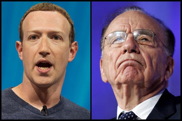 Showdown: Mark Zuckerberg and Rupert Murdoch