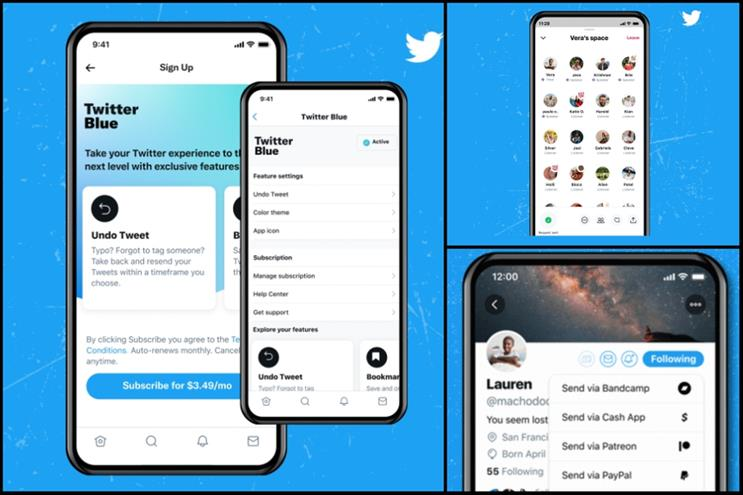 Twitter: Twitter Blue, Spaces and Tip Jar were launched in Q2