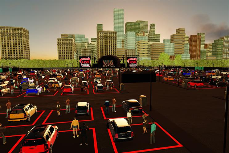 Live Nation: 300 cars will be permitted at each performance