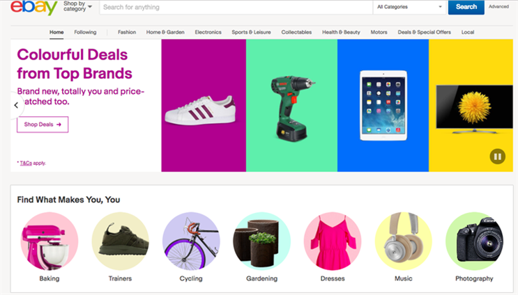 Ebay: event comes alongside launch of AI-powered website designed to offer greater personalisation
