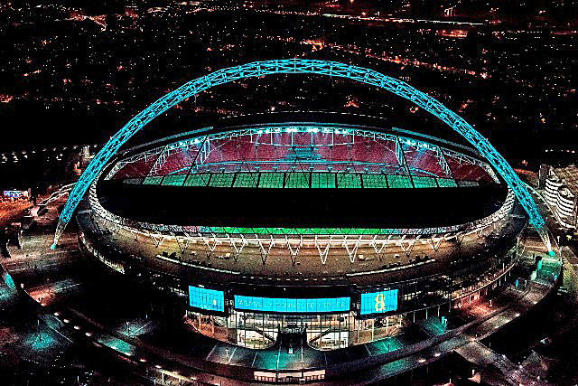 EE: lights up Wembley Stadium