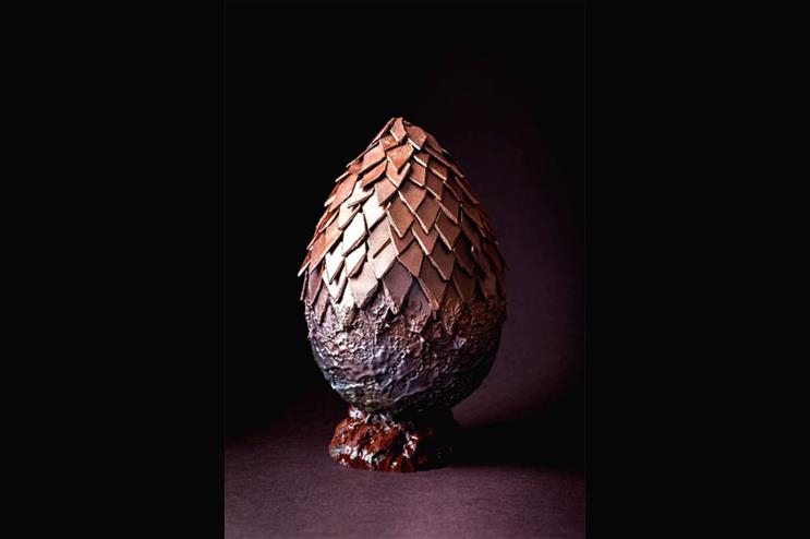 The chocolate egg will be constructed scale by scale on Saturday (12 March)