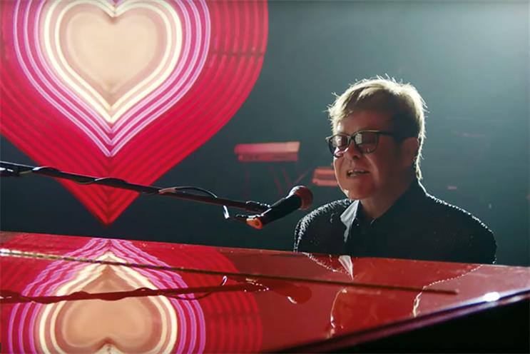 Elton John: starred in the John Lewis & Partners Christmas campaign by Adam & Eve/DDB