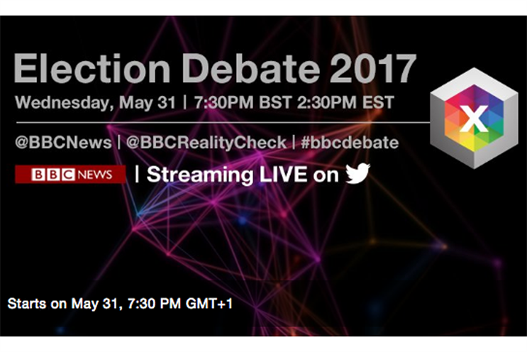 BBC to livestream five #GE2017 specials on Twitter