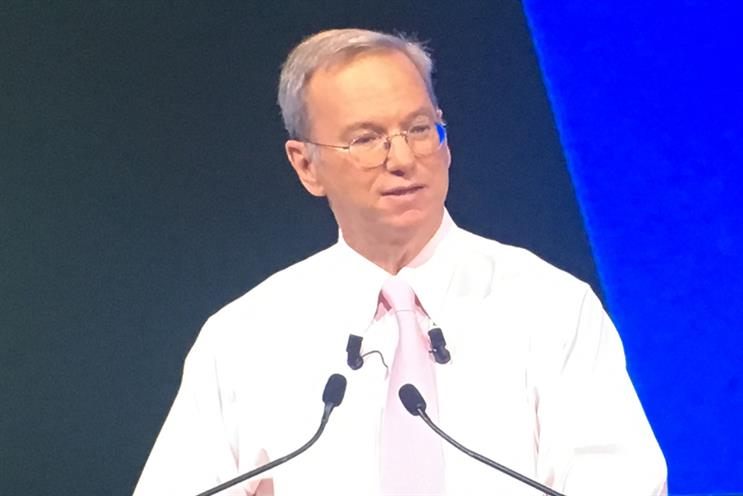 Eric Schmidt's vision of a better world