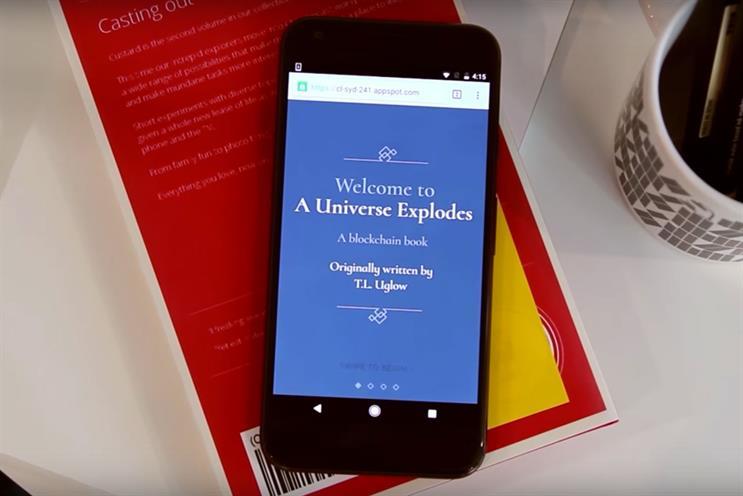 A Universe Explodes: Tea Uglow's book asks readers to make edits