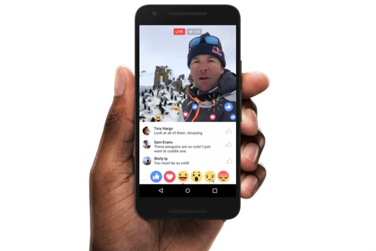Facebook: announced discrepancies over how reactions to live video are counted