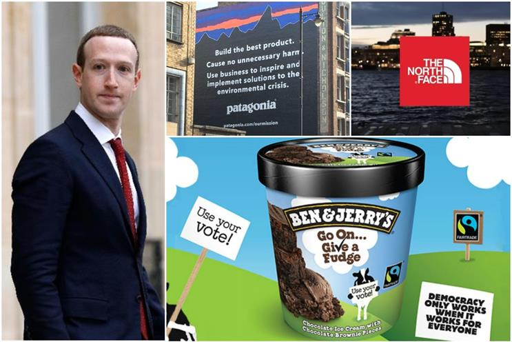 Zuckerberg: facing Facebook ad boycotts from Patagonia, The North Face and Ben & Jerry's