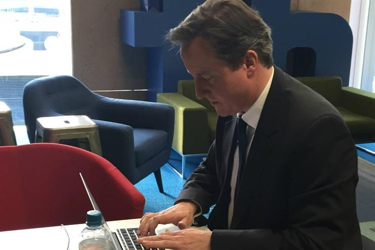 Facebook: David Cameron takes part in a social media Q&A at Facebook