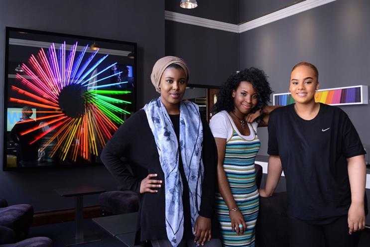 (L-R): Luul Hussein, Adela Harewood, Sophia Tassew