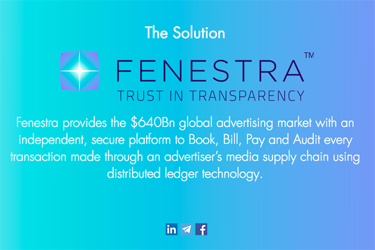 Why new media blockchain player Fenestra is a platform not an agency