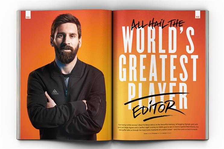 FourFourTwo: landed superstar footballer Lionel Messi as a guest editor last year